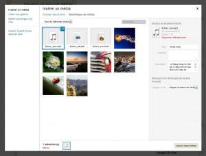 Exemple d'un fichier son - Les réglages dépendent du format du fichier