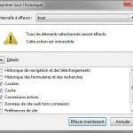Supprimer le cache de Firefox