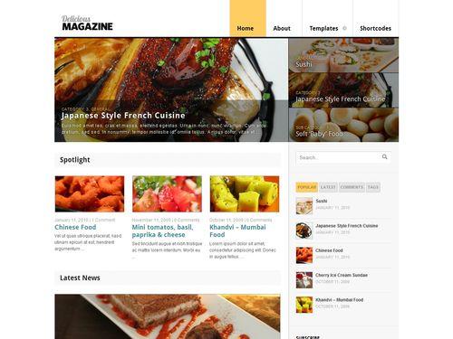 theme Delicious Magazine