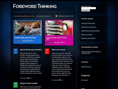 theme Foreword Thinking