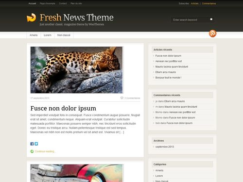 theme Fresh News